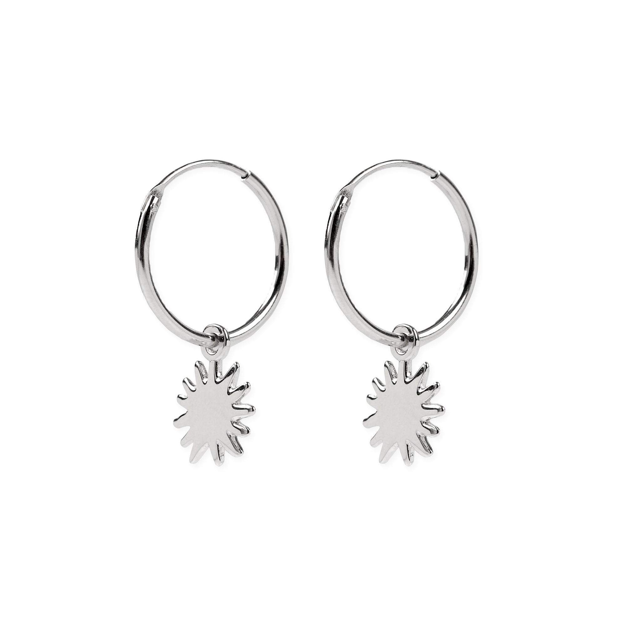 Dancing Sunshine Hoops Silber - Wildflowers