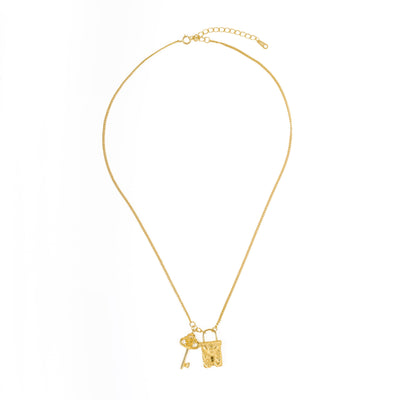 Key To My Heart Necklace Gold SALE - Wildflowers