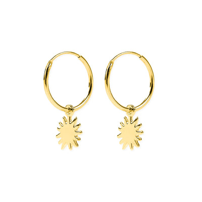 Dancing Sunshine Hoops Gold