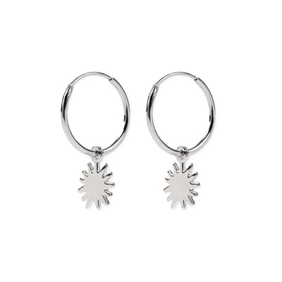 Dancing Sunshine Hoops Silber