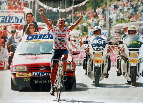 Chiappucci celebrating in 1992