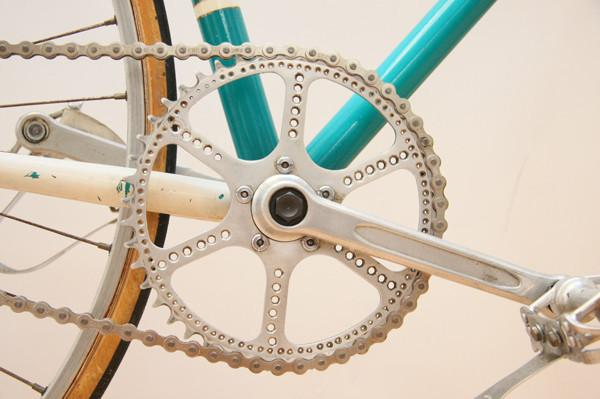 Custom Drilled Vintage TA Specialites Chainring - Pat Hanlon Cycles