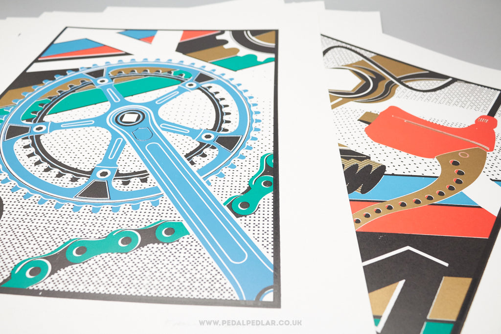 Colnago/Mafac Letterpress Ltd Prints by Edward Tuckwell & Thomas Mayo of Sope Collective