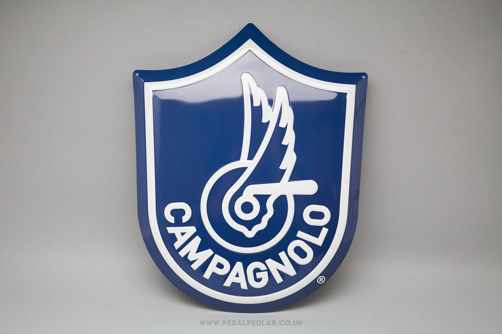 Campagnolo Shield Logo Enamel Tin Wall Sign at Pedal Pedlar