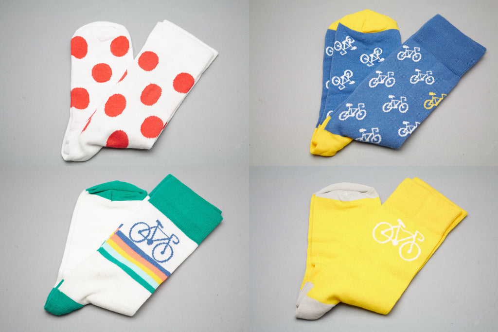Retro Cycling Socks in 4 Designs at Pedal Pedlar