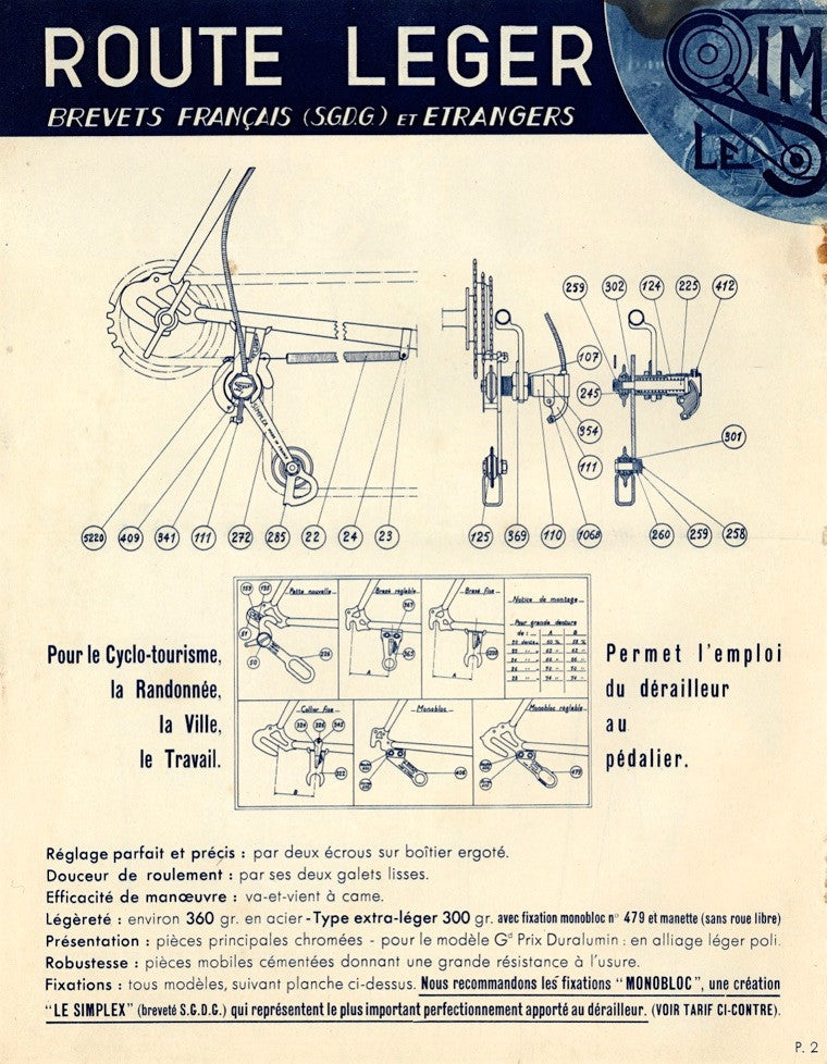 1939 Simplex Catalogue Featuring the Simplex Route Leger