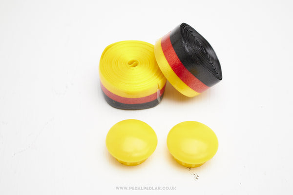 3ttt Celo-Nastro NOS Black / Red / Yellow  Handlebar Tape - Pedal Pedlar  - 1