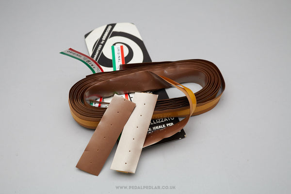 Ambrosio Supermetallizzato Bike Ribbon - NOS Brown Handlebar Tape