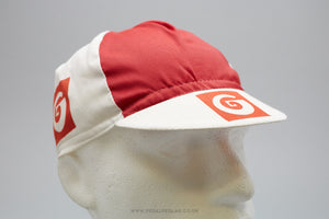 Vintage Red/White Cycling Cap