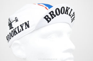 Brooklyn White Cycling Cap - Pedal Pedlar  - 1