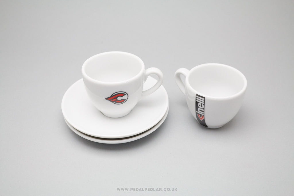 Cinelli C Logo Itlian Espresso Coffee Cups & Saucers Set at Pedal Pedlar