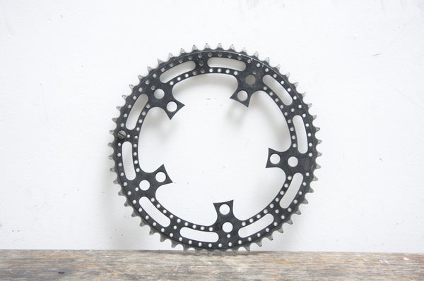 52T Stronglight Drilled Vintage Chainring - Pedal Pedlar  - 1