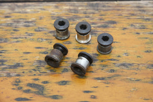 Vintage Black Double Chainring Bolts - Pedal Pedlar