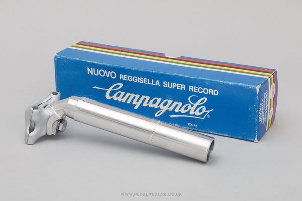 Campagnolo Nuovo Super Record (4051/1) Non-Fluted NOS/NIB Vintage 26.0 mm Seatpost - Pedal Pedlar - Buy New Old Stock Bike Parts