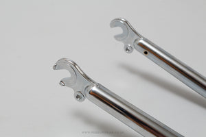 Chrome Plated NOS 700c 1 Inch Threaded Steel Forks