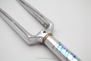 "Chromed Steel 700c 1"" Threaded French Bicycle Fork"