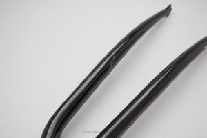 "Black Steel 700c 1"" Threaded Bicycle Fork"