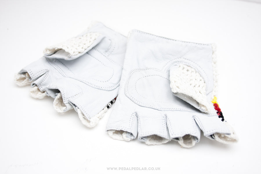 Leather Palm Crochet Cycling Mitts - Pedal Pedlar  - 1