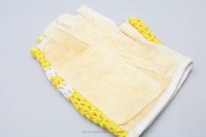 Yellow Striped NOS Crochet Cycling Gloves/Mitts
