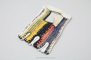 World Champ Striped NOS Crochet Cycling Gloves/Mitts