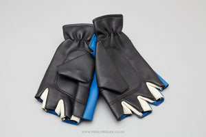 Blue/Black Leather NOS Cycling Gloves/Mitts