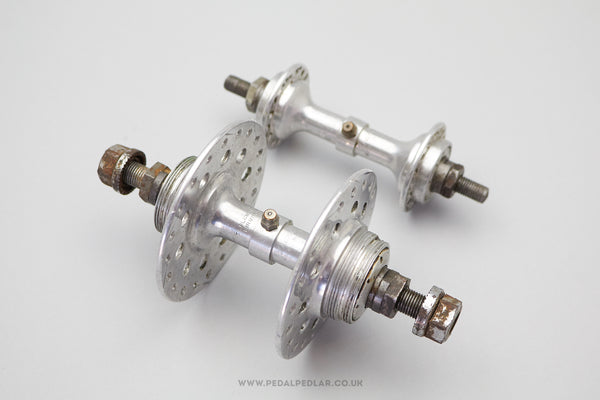 32/40h T.F. Blumfield Duralite 1950s Classic Double Fixed Track Hubs (Pair)