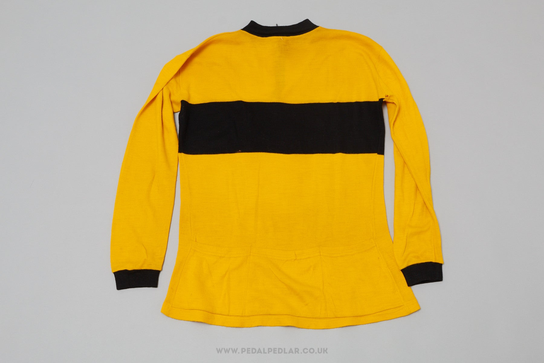 Black   Yellow Unbranded Vintage Woollen Style Cycling Jersey - Pedal Pedlar  - 2 9ad8efd2d