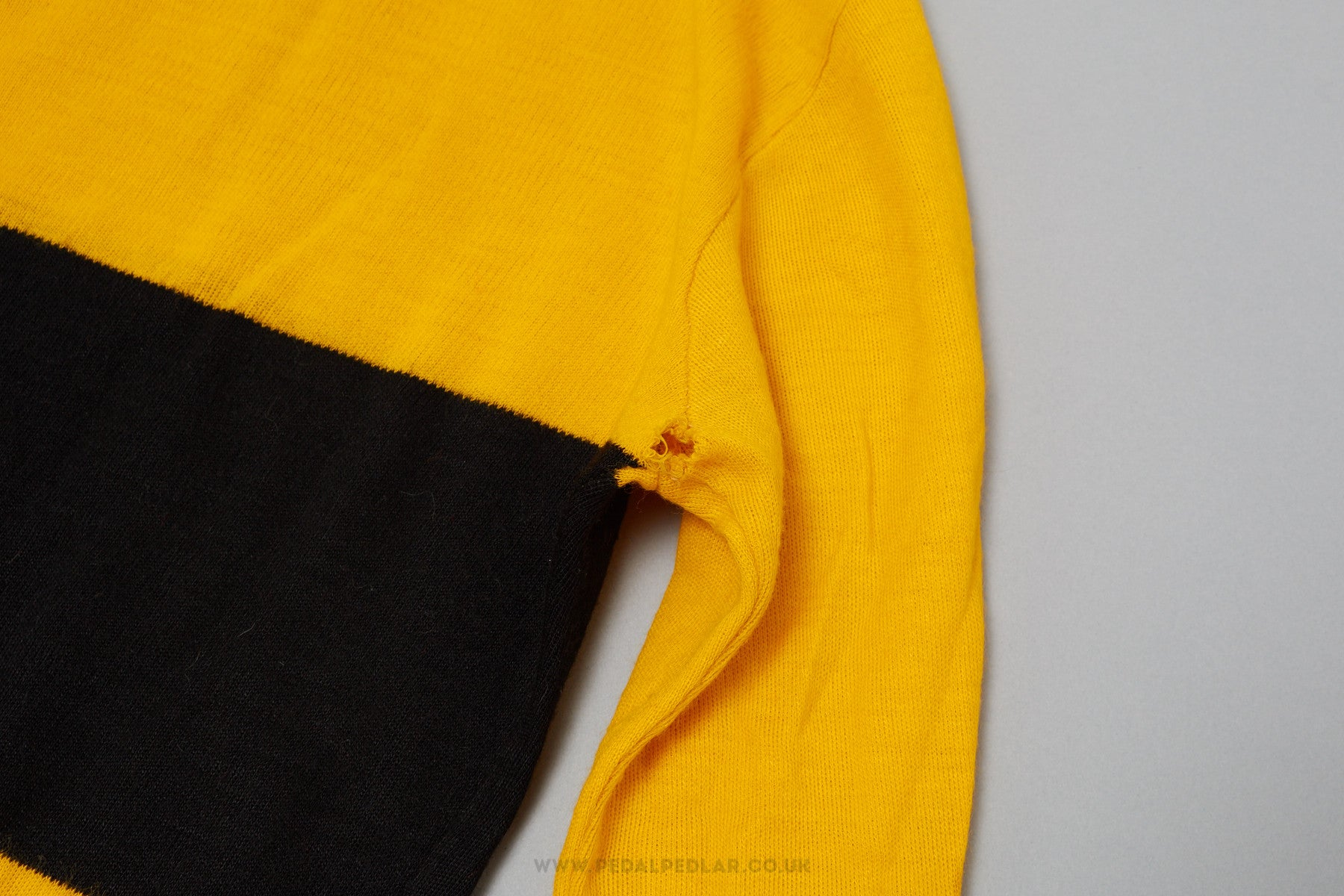 0a56bacef Black   Yellow Unbranded Vintage Woollen Style Cycling Jersey - Pedal Pedlar  - 3