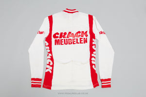 Crack Meubelen Flandria 1986 - Vintage Woollen Style Long-Sleeved Cycling Jersey