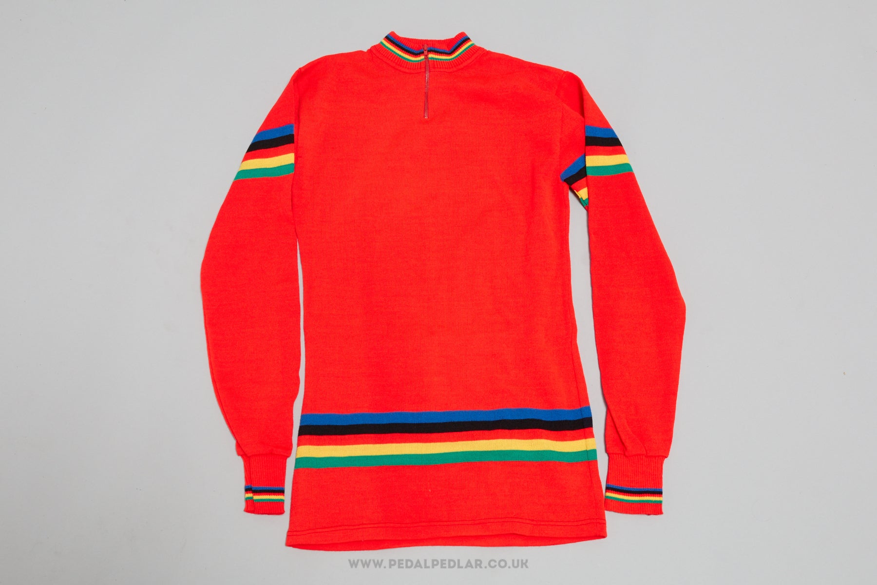 3a4a4df05 Red Vintage Woollen Woollen Style Long-Sleeved Cycling Jersey