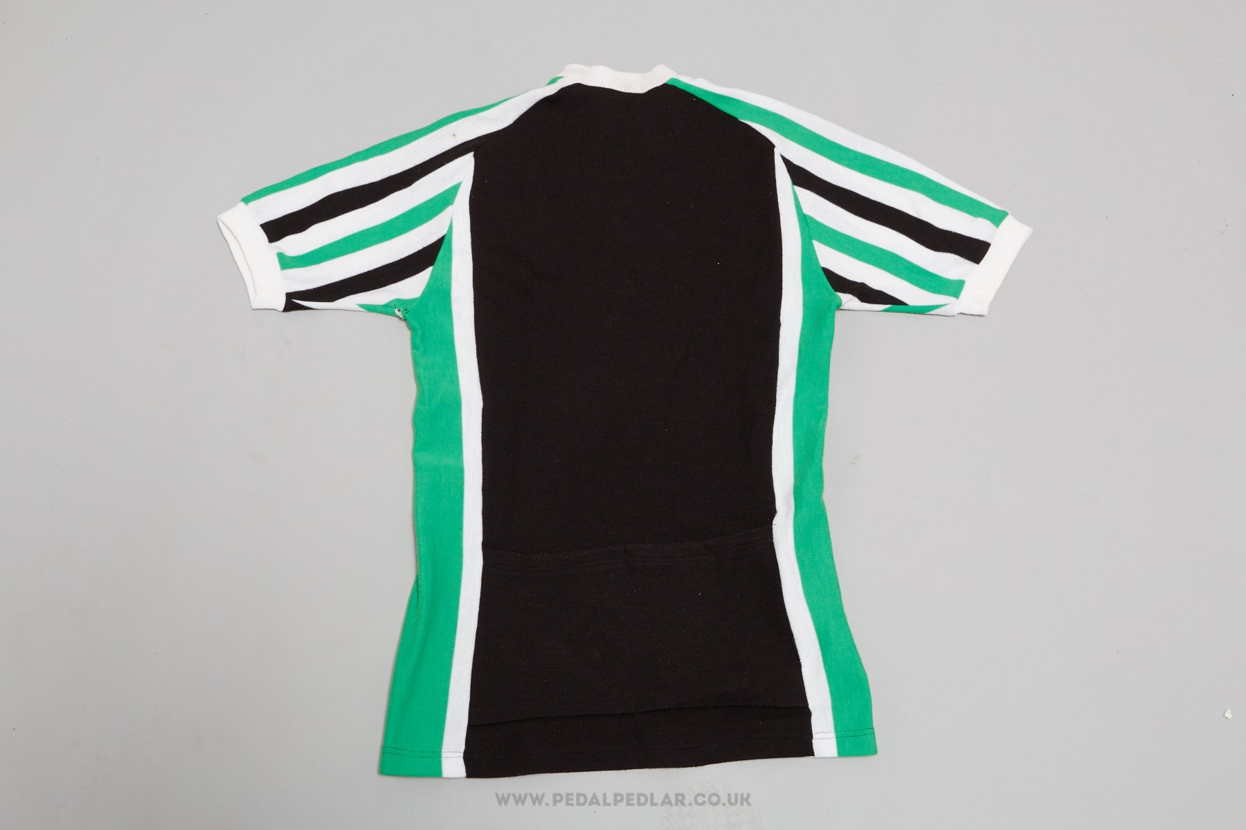 42306584c Black Green White Vintage Woollen Style Cycling Jersey