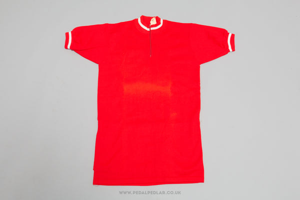 Red Vintage Woollen Style Cycling Jersey