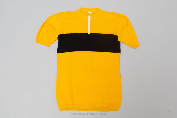 Yellow & Black - Vintage Woollen Style Cycling Jersey - Pedal Pedlar  - 1