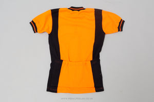 Orange & Black - Vintage Woollen Style Cycling Jersey - Pedal Pedlar  - 2
