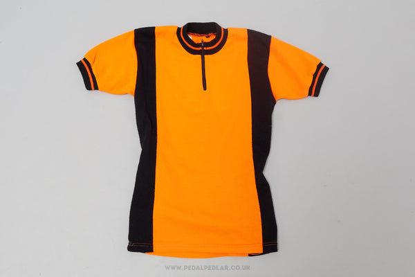 Orange & Black - Vintage Woollen Style Cycling Jersey - Pedal Pedlar  - 1