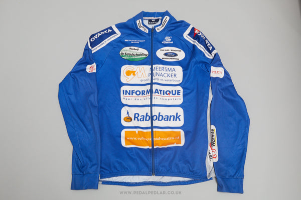 Lornini Rabobank Long Sleeve Full Zip Vintage Cycling Jersey