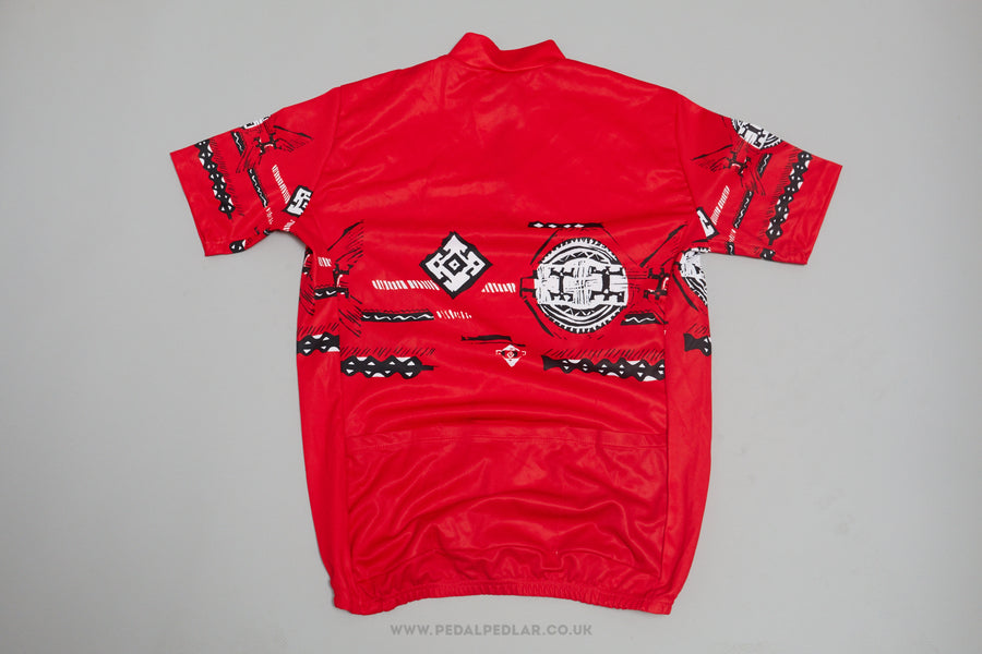 Aztec Short Sleeve Vintage Cycling Jersey