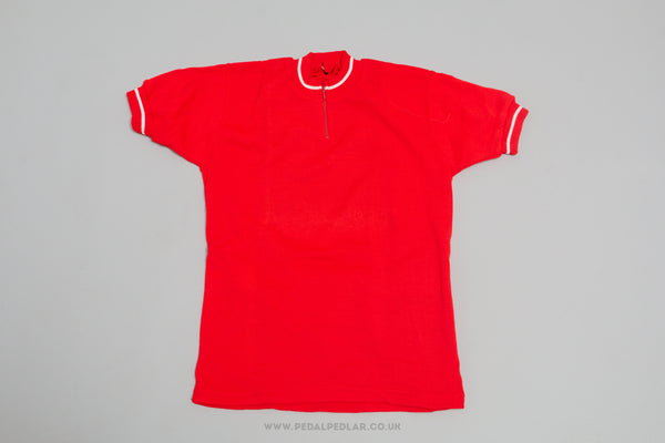 Red Unbranded NOS Woollen Style Cycling Jersey