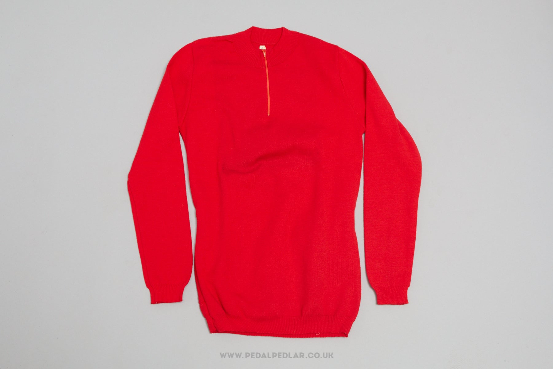 Red Unbranded NOS Woollen Style Long Sleeve Cycling Jersey f45bb09cf