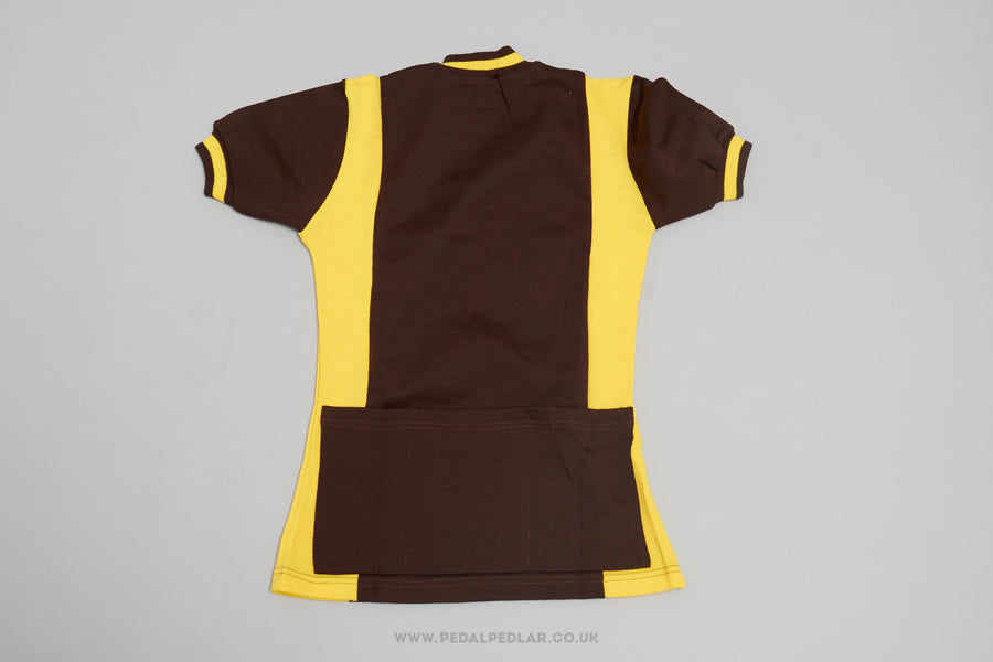 Brown Unbranded NOS Woollen Style Cycling Jersey