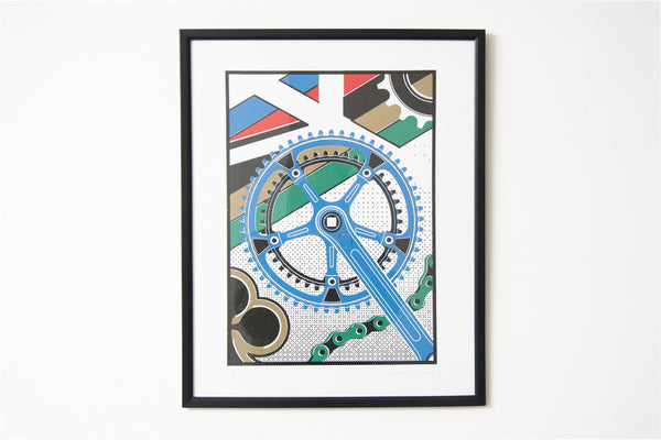 Drive / Colnago - Limited Letterpress Print by Edward Tuckwell - Pedal Pedlar  - 1