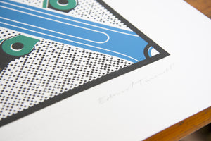 Drive / Colnago - Limited Letterpress Print by Edward Tuckwell - Pedal Pedlar  - 2