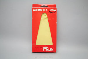 Selle Italia Coprisella Lycra Special Waterproof Saddle Cover in Yellow - Pedal Pedlar  - 1