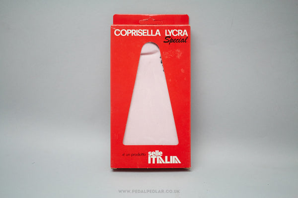 Selle Italia Coprisella Lycra Special Waterproof Saddle Cover in Pink - Pedal Pedlar  - 1