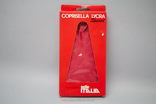Selle Italia Coprisella Lycra Special Waterproof Saddle Cover in Red - Pedal Pedlar  - 1