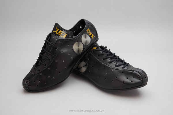 Duegi NOS Vintage Leather Cycling Shoes - Size UK 4.5
