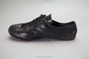 Handmade Leather Size 8 Vintage Cycling Shoes