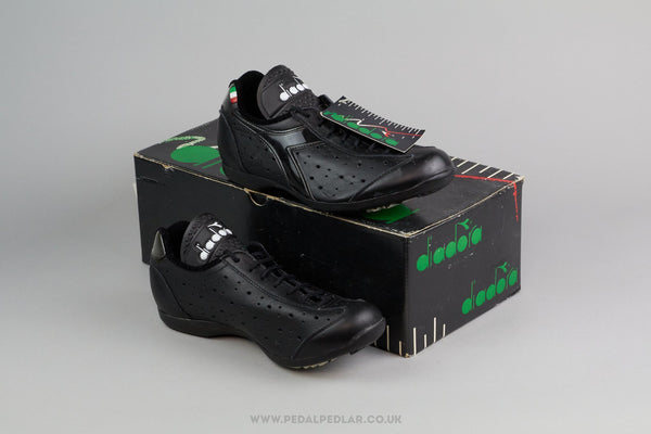 Diadora Cicloturismo NOS Vintage Leather Cycling Shoes - Size 36 - Pedal Pedlar - Classic & Vintage Cycling