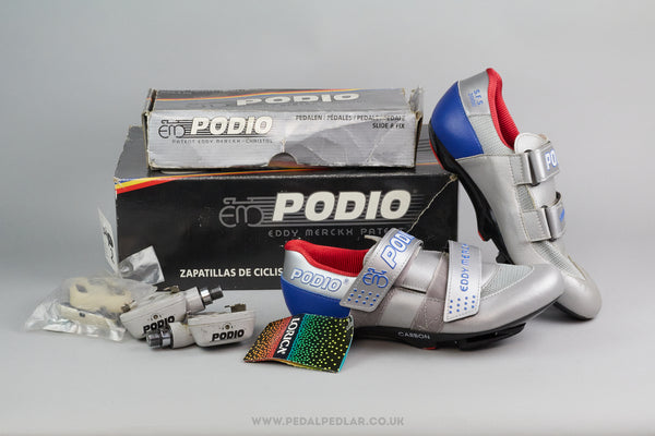 Eddy Merckx Podio NOS Cycling Shoes w) Pedals & Cleats - Various Sizes