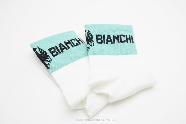Bianchi Team Issue Coolmax Socks White / Celeste Green - Pedal Pedlar  - 1